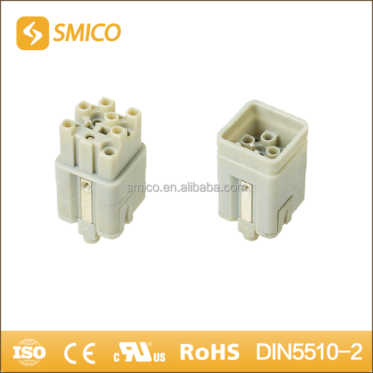 SMICO HQ Type 12 Pin industrial wire connector male and female Aviation Plug