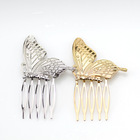 Crystal rhinestone headwear ladies butterfly metal diamond Bridal Hair combs