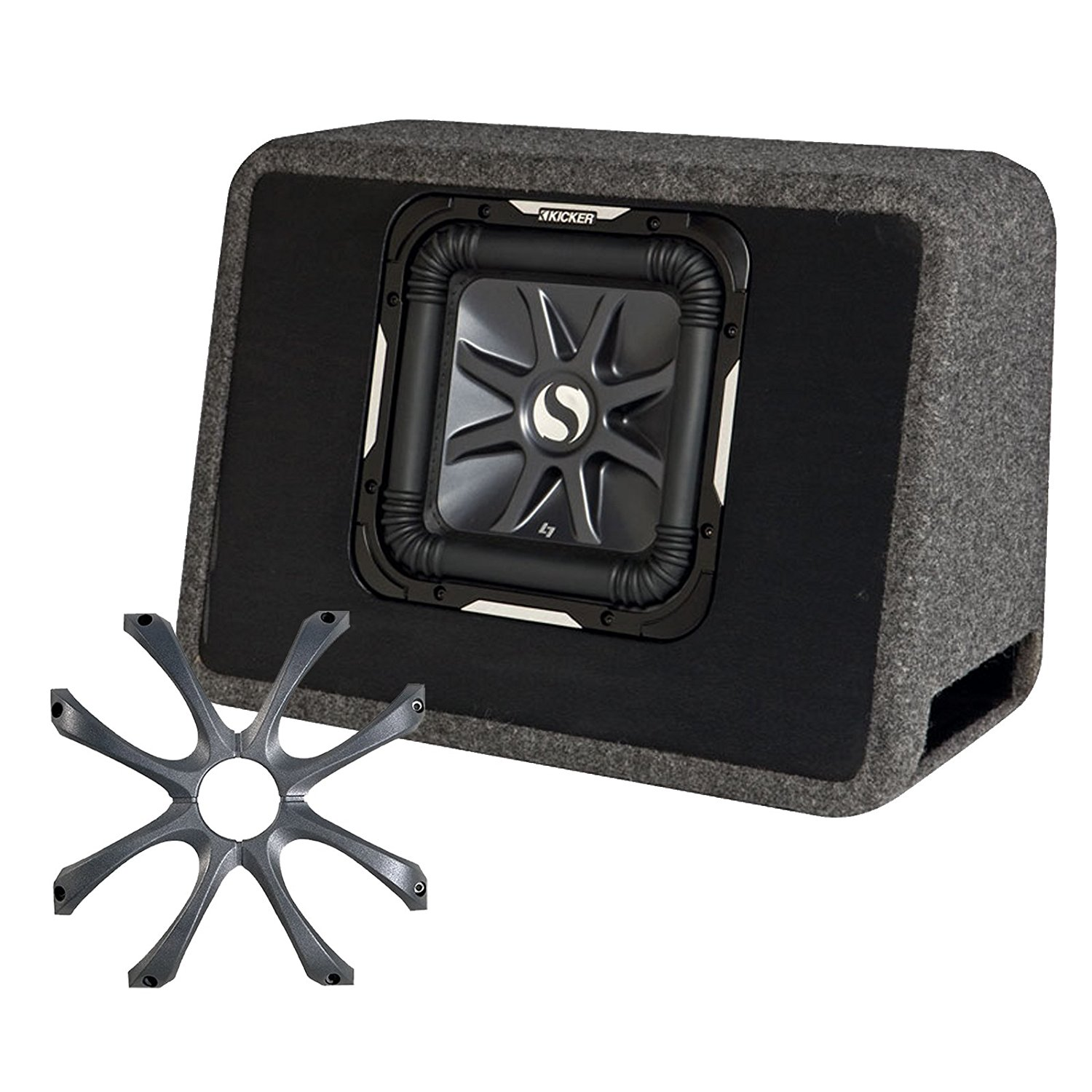 Buy Kicker Ts10l72 11ts10l72 10 Angled Vented Sub Enclosure With 1 Subwoofer 15 Inch Solo Baric