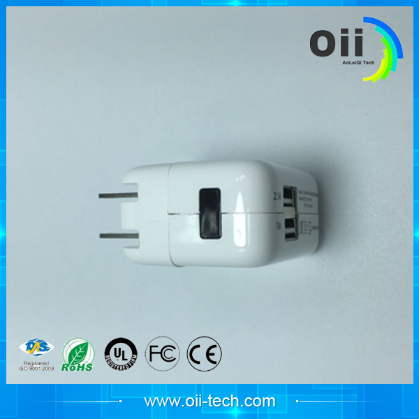 White 5 v 2.1 a usb charger for android mobile phone power adapter