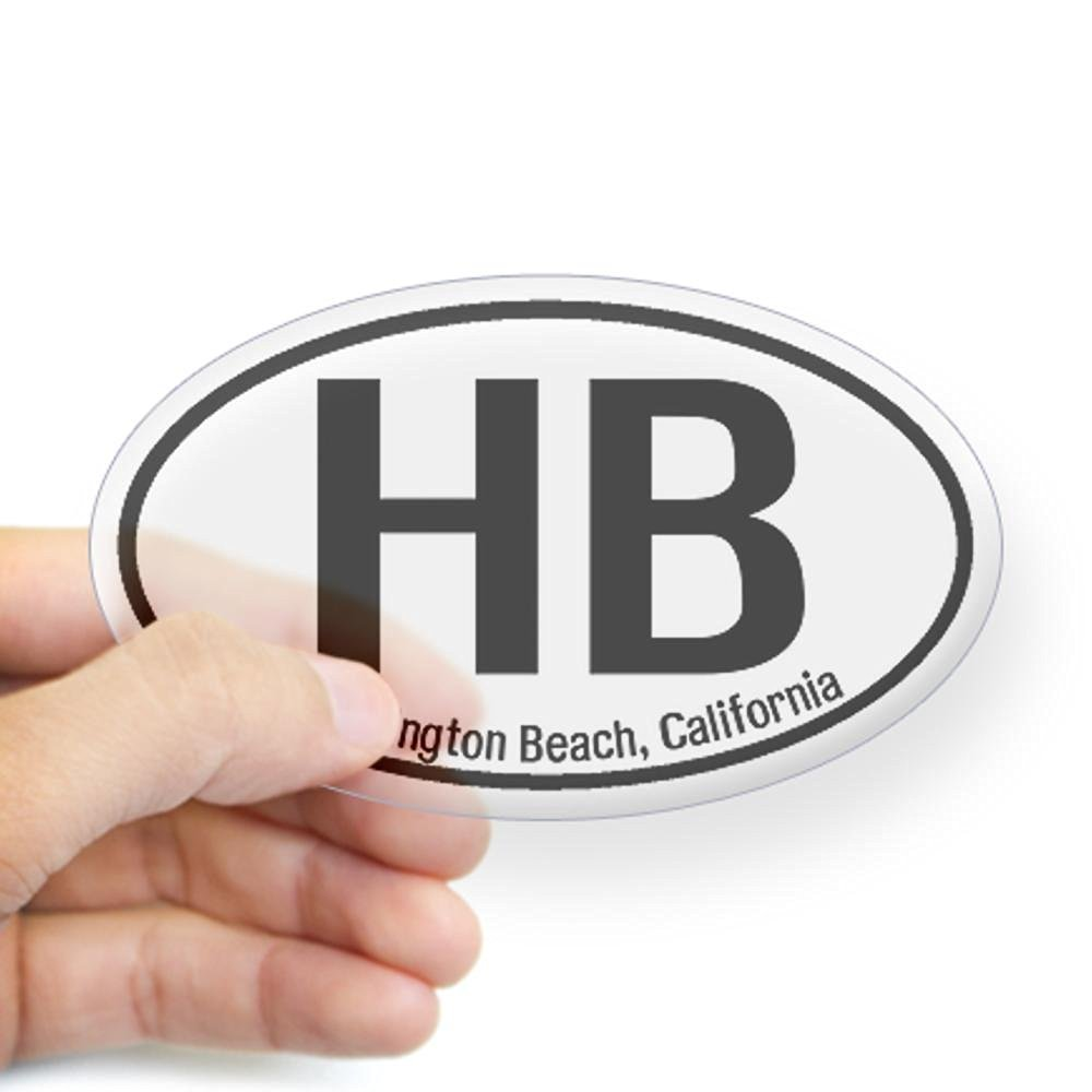 Cafepress huntington beach california oval sticker sticker oval 4 5x7 5 clear
