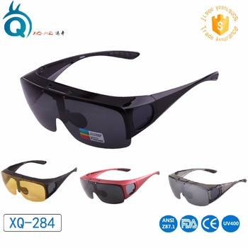 36d421ae89 Mens Womens Wraparound Goggles Polarized Fishing Driving Glasses with  custom logo and glasses case Flip Up