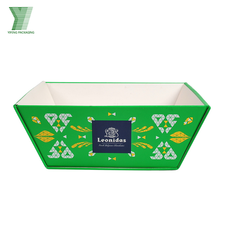 Wholesale custom wedding or birthday cake packaging paper tray