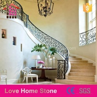 Factory Direct sale natural stone marble Circular Steel Framed Stairs