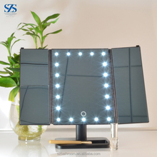 1x2x3x Magnifying ABS Plastic Vanity 3 Way LED Makeup Mirror With Light