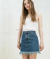 Z55964B Latest Skirt Design Picture For Women fancy skirt top designs Short Denim Jeans Skirt