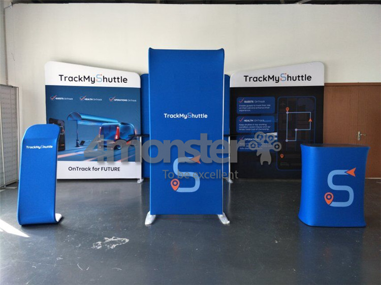 Quick setup Custom Modular Design Aluminum 3x6 Exhibition Booth Portable 10x20 Trade Show Booth Display