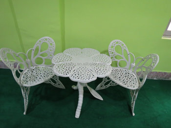 Cast Aluminium Butterfly Chair Set Outdoor Furniture Garden Table And Chair