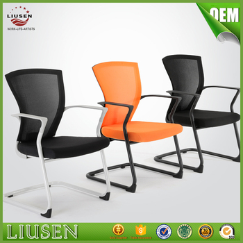 Luxury Modern Office Chair Comfortable School Training Chair Modern Mesh  Office Chair Without Wheels