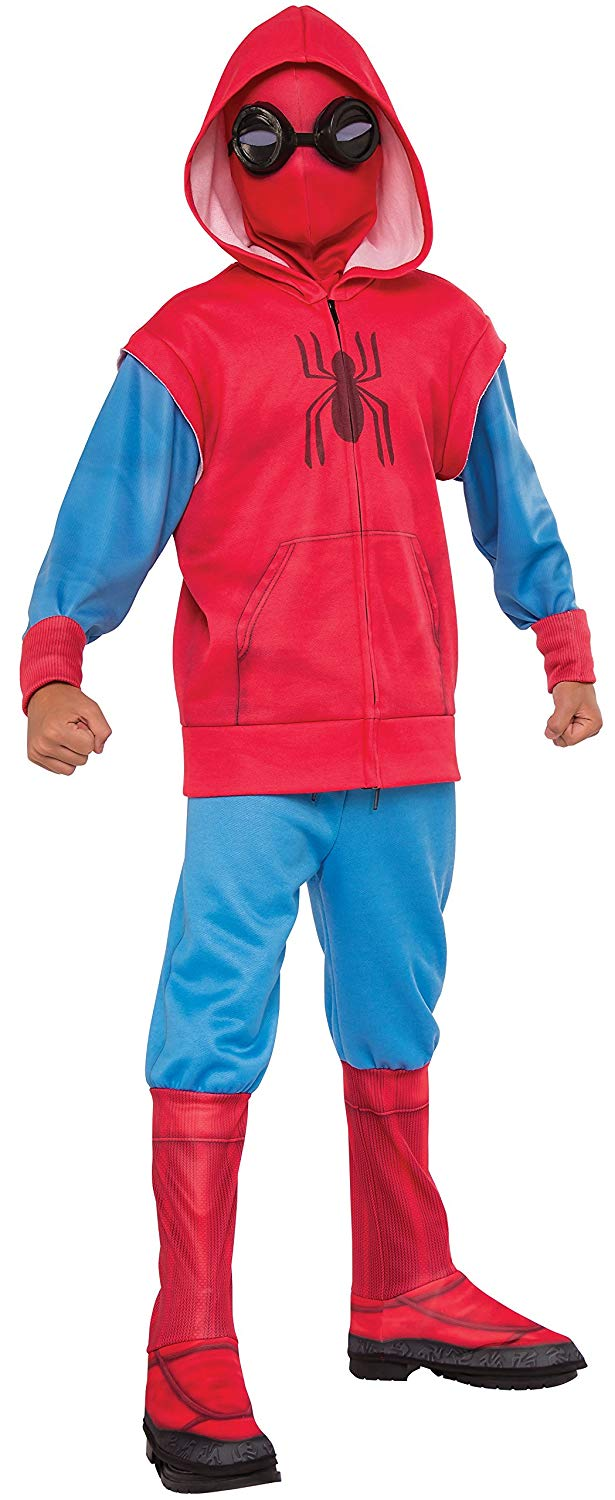 """Rubie's Costume Co Spider-Man: Homecoming, Child's Deluxe""""Homemade"""" Suit Costume, Small"""