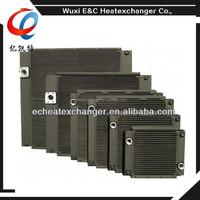 Low cost high quality air to water heat exchanger for compressor