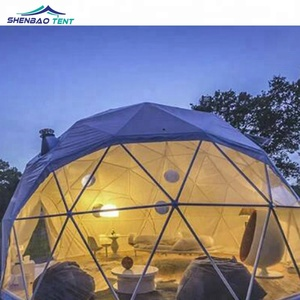 Waterproof Pvc Dome Tent Luxury Glamping Geodesic Dome House Tent