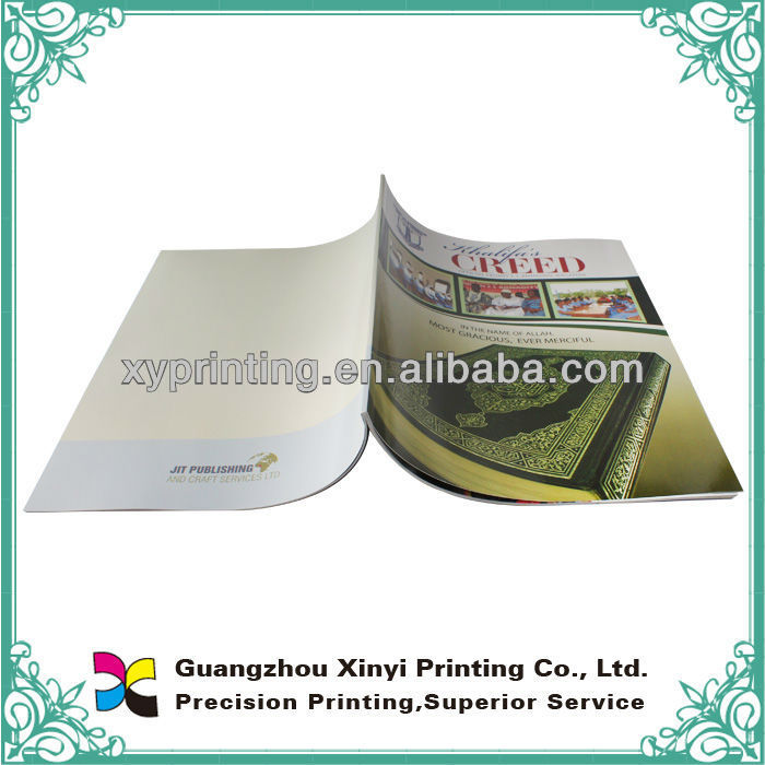Saddle stitching catalogue/brochure printing service