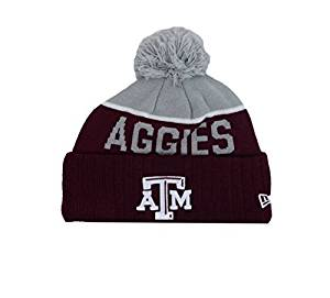 406603a6efe Get Quotations · New Era Texas A M Aggies Cuff Knit Beanie w  Pom Hat Cap -  OSFA