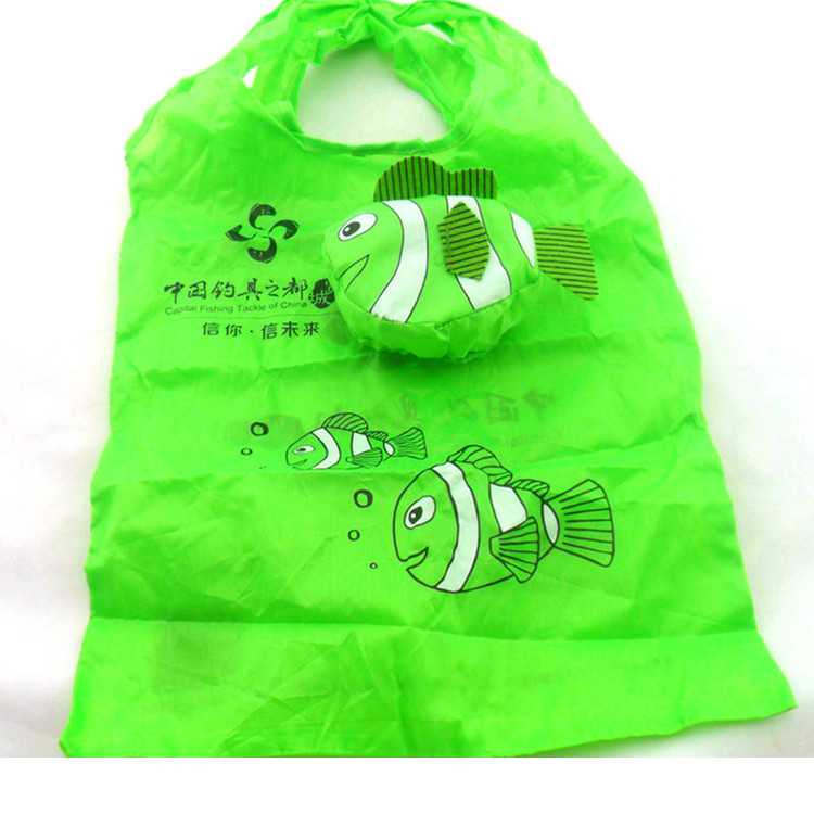factory custom reusable 190t folding round ball shaped foldable grocery polyester shopping bag