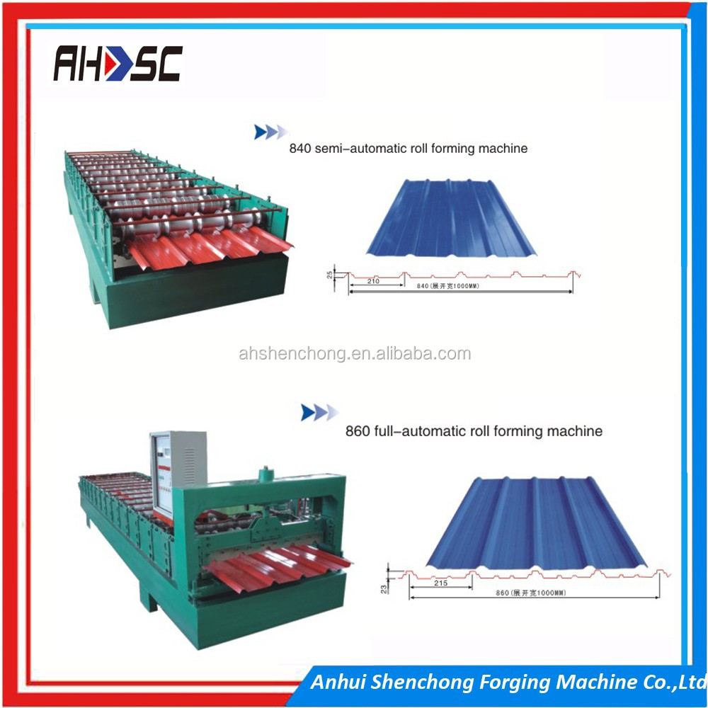 Double decking corrugated and IBR roll forming machine
