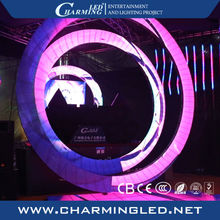 New design round led screen flexible led display indoor