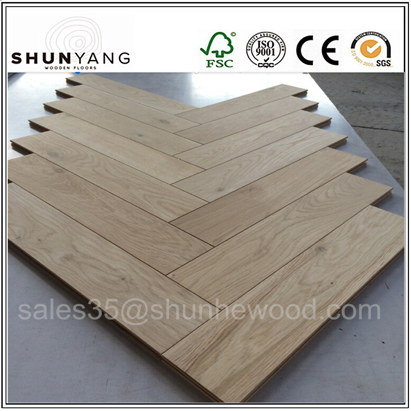 Unfinished Oak Parquet Wood Flooring