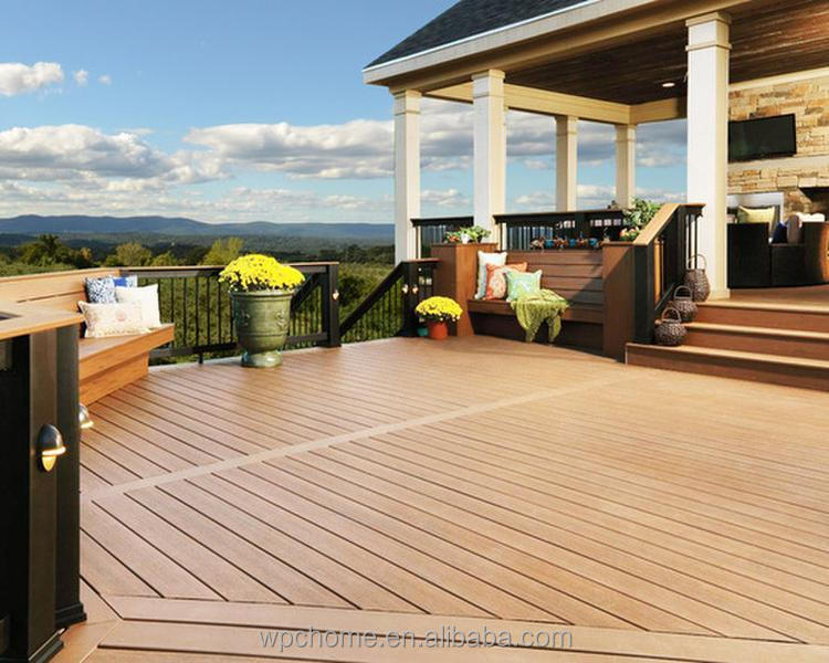 2016 new product WPC antiseptic wood, Waterproof wood plastic composite decking
