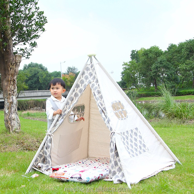 Soft Cotton Canvas Play Tent Camping Gear
