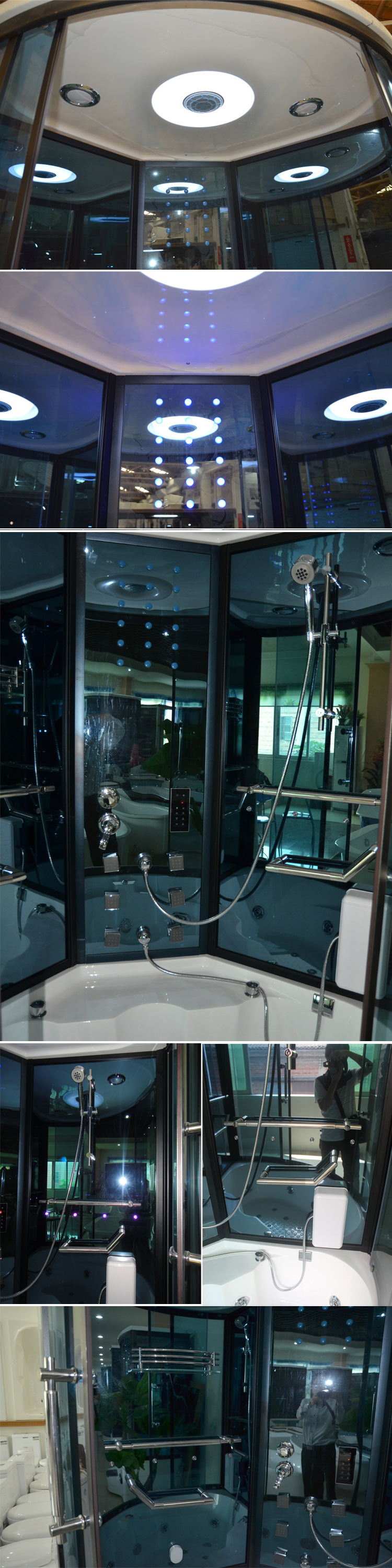 HS SR085 Acrylic Aqua Glass Bath Steam Shower