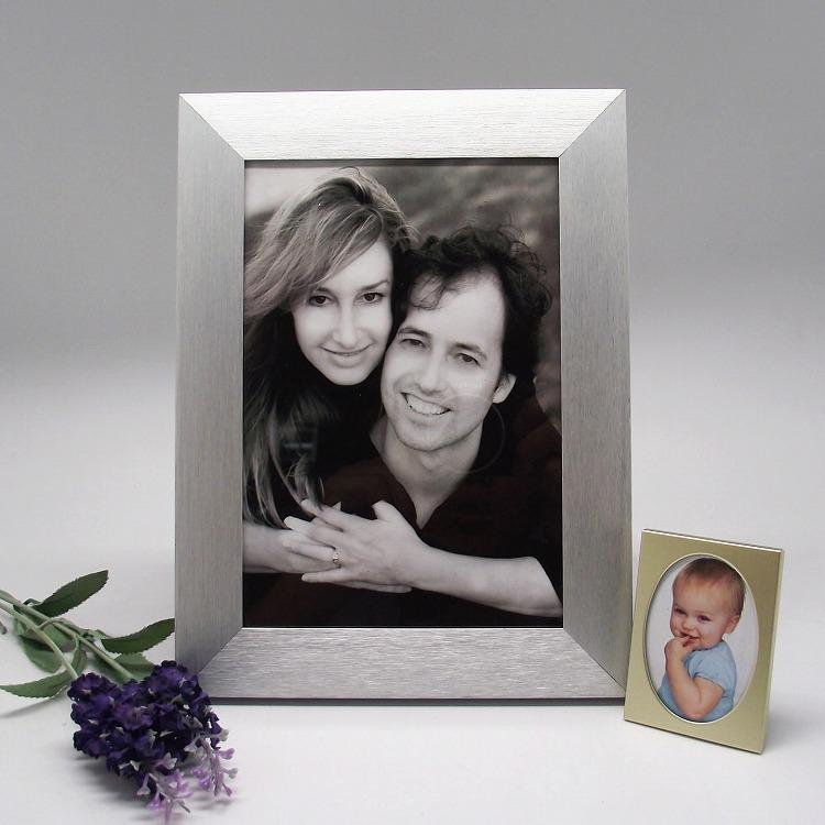 Venta al por mayor marco de la imagen de plata-Compre online los ...