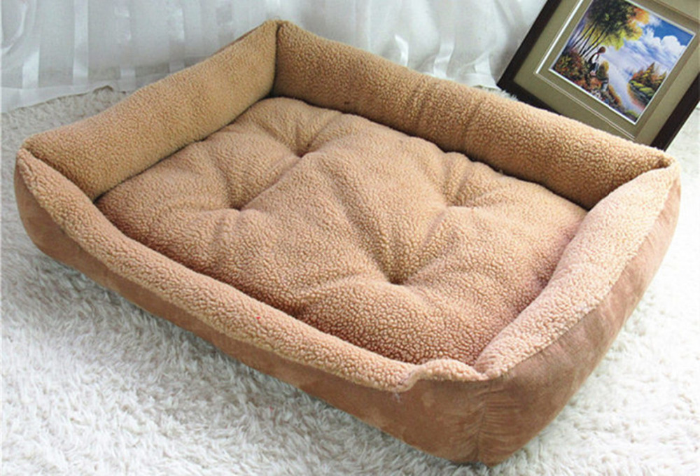 2019 Soft Dog Beds For Large Dogs Berber Fleece Warm