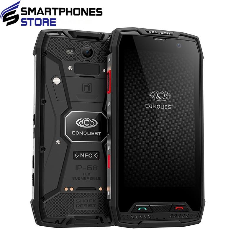 Conquest S11 IP68 Waterproof Shockproof 4G Smartphone 6GB RAM 64GB ROM 7000mAh PTT NFC Fringerprint OTG Rugged Mobile Phone