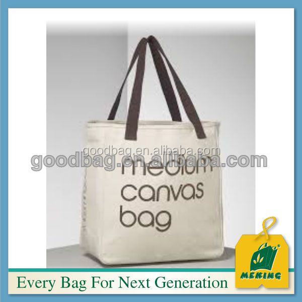 stand up cross strap cotton canvas tote messenger bag