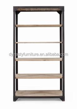 industrial furniture wholesale antique bookstore wooden metal library bookshelves - Metal Library Bookshelves