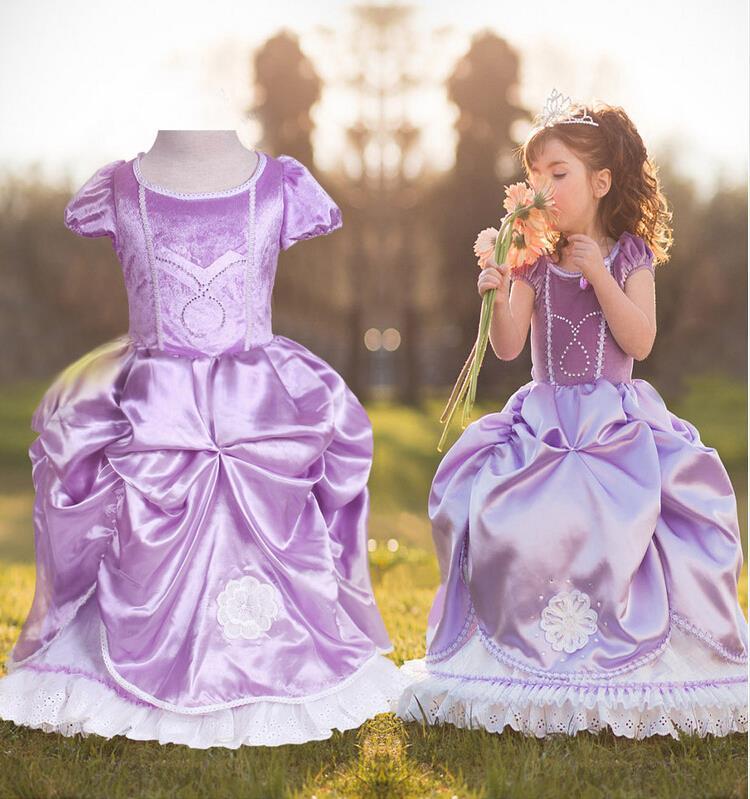 Sofia Princess Dress Kids Cosplay Costumes Girls New Arrival: Popular Kids Wedding Dresses-Buy Cheap Kids Wedding