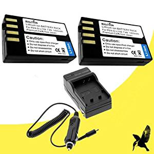 Two Halcyon 1400 mAH Lithium Ion Replacement Battery and Charger Kit for Pentax K-500 Digital SLR Camera and Pentax D-Li109
