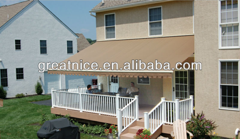 half cassette motorised retractable awning/blind/canopy
