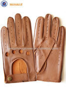 New style spring / summer sheep skin driving gloves with holes
