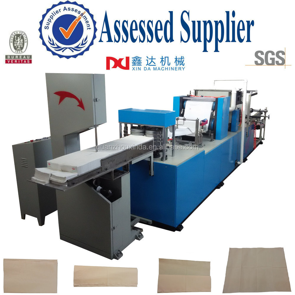 Automatic printing napkin paper tissue embossed folder dental pad making machinery