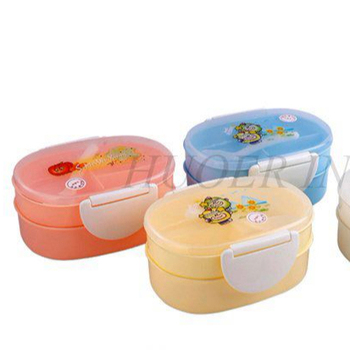 Double Layer PP Plastic Children Lunch Box
