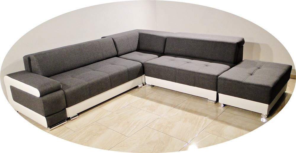 nouveau coin canap lit milo avec pouffe stockage r glable appui t te fonction de. Black Bedroom Furniture Sets. Home Design Ideas