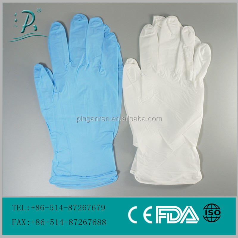 Nitrile disposable hand gloves cheap nitrile gloves disposable long nitrile gloves