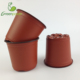 bulk plastic red flower pots