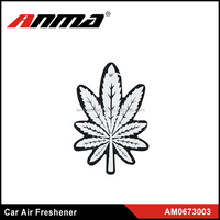 auomotive customized paper air freshener with leaves shape