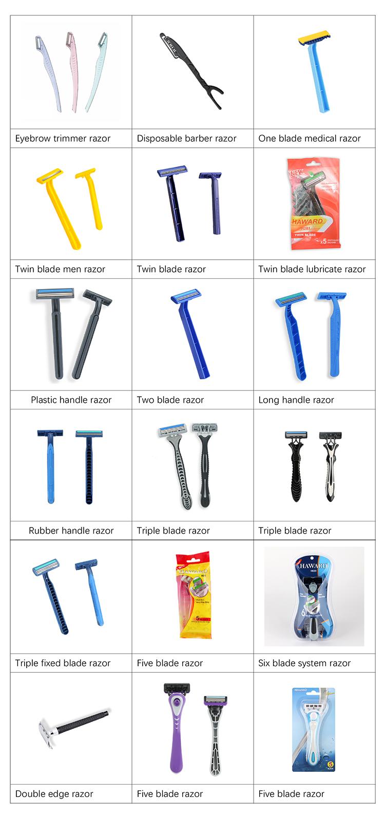 D701 Stainless folding replacement blades shaving knife straight barber single edge barber razor