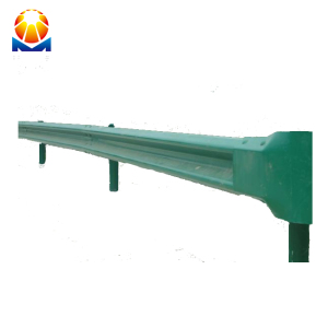 Armco guardrail w beam crash barrier