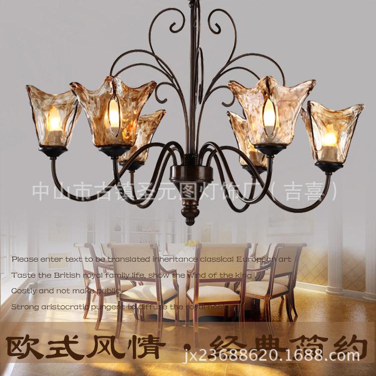European Classical Iron Chandelier Bedroom Chandelier