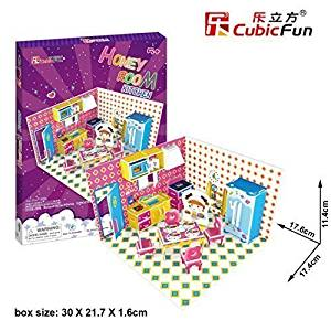 Get Quotations · 3D Puzzle Honey Room-Kitchen CubicFun 3D Puzzle P658h 61 Pieces Decorative Fashion Best Seller