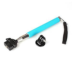 SODIAL(R) Telescoping Extendable Pole Handheld Monopod with Tripod for Gopro Hero 3 2 1