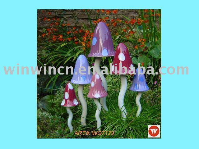 Céramique champignons jardin décoration-D\'autres accessoires de ...