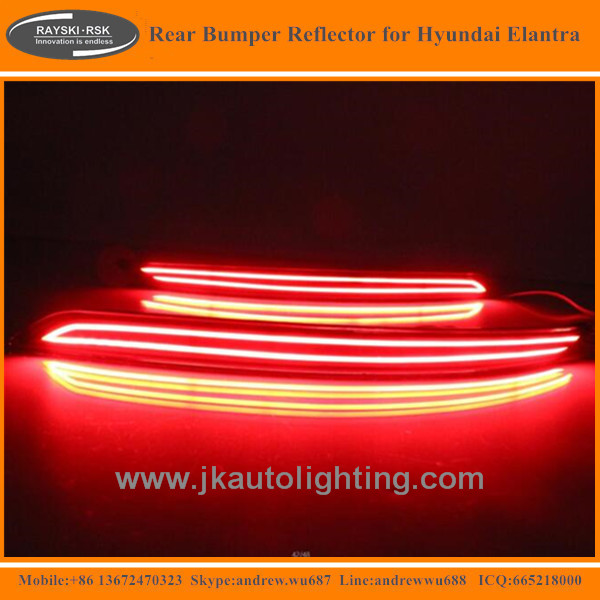 High Quality LED Rear Bumper Reflector for Hyundai Elantra Best Selling LED Rear Bumper Light for Hyundai Elantra 2016 2017