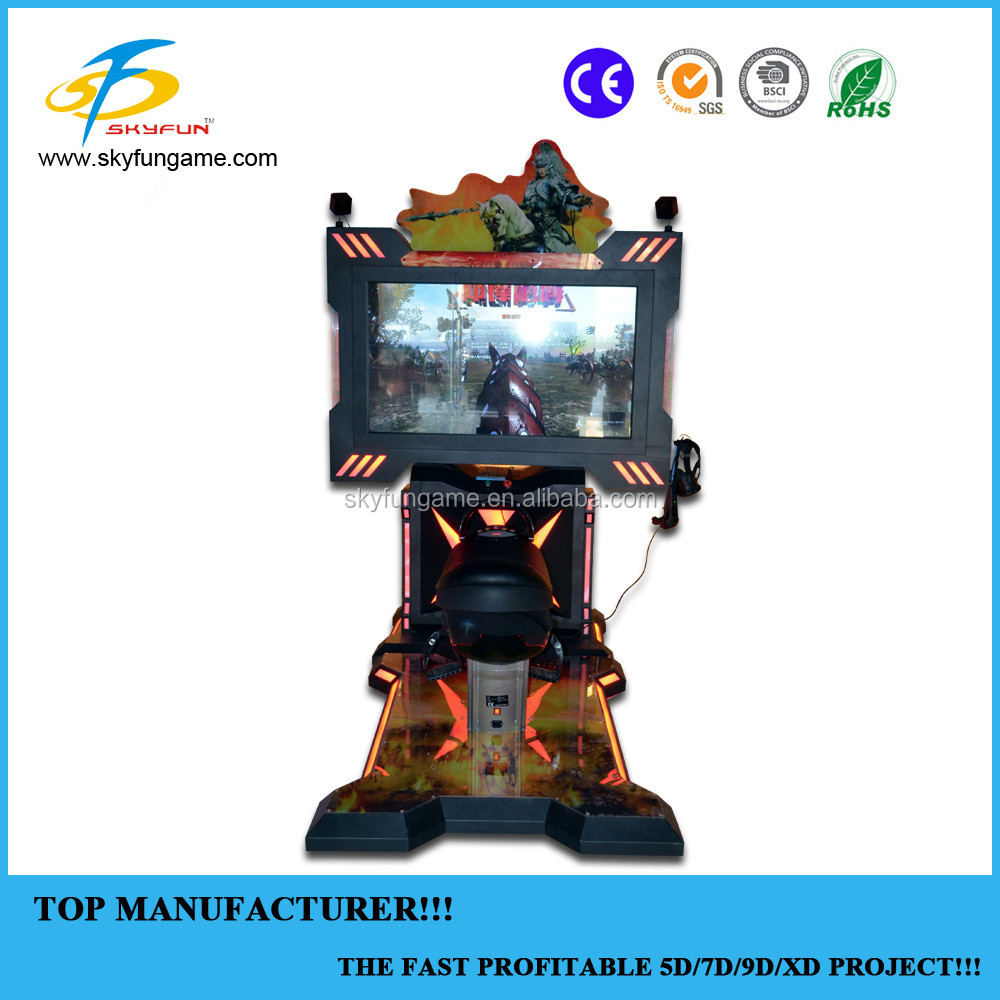 Amusement park horse racing game with archery game virtual reality