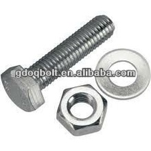 hex head bolt DIN933 stainless steel fasteners