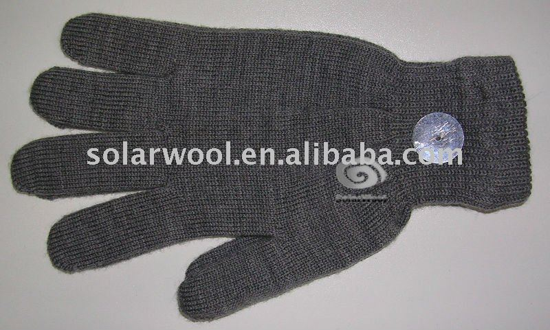 Merino wool knitted mens glove